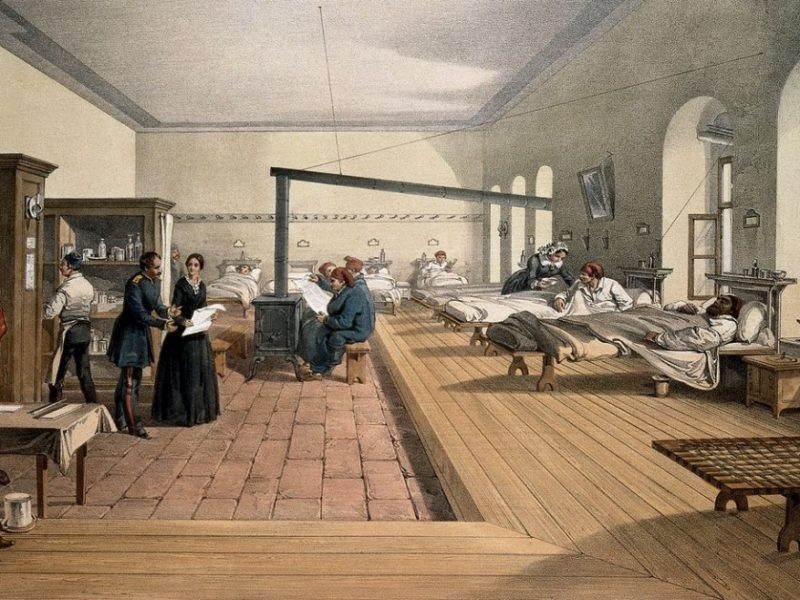 One of the wards in the hospital at Scutari