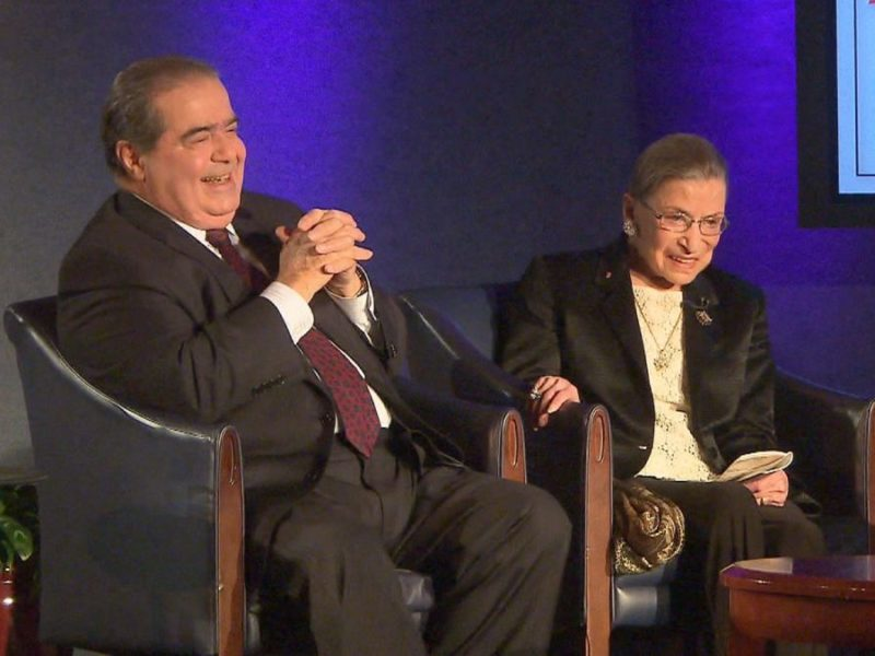 Scalia and Ginsburg; Chesterton and Shaw
